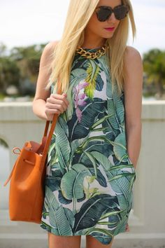 Take your wardrobe on an instant vacation with a tropics-inspired print.