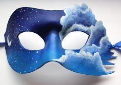 Mask of the Moon  Handmade Leather Mask by OakMyth on Etsy, $45.00