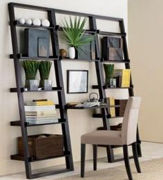 DIY Build it ~ Shelf unit. Use ready cut shelf boards; 2x4's and 2x6 or 2x8's.   Sand, cut to size, prime, knock together and paint. Done!  (fix to the wall at the top for stability)