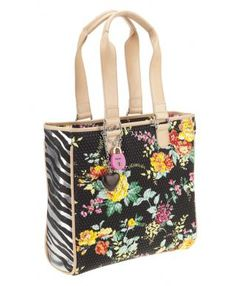 Consuela Couture Tote, Black Floral
