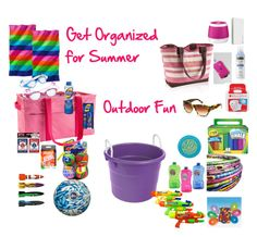"""Get Organized for Summer ~ My 33 """"Must Haves"""" for Outdoor Fun! #summer #kids #moms"""