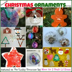 homemade Christmas ornaments to make with your children and/or students this holiday season