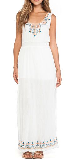 LA Made Playa Maxi Dress in White
