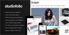 Studiofolio: A Versatile Portfolio and Blog Theme - ThemeForest Item for Sale