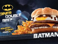McDonald's Hong Kong celebrates the Justice League with a Batman burger that looks more like something the Penguin would indulge in.