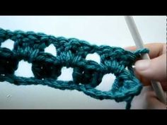 Crochet Lessons  - How to work straight rows based on the granny square pattern Part 2 crochet stuff, general crochet, crochet lessons, granni squar, granny squares, crochet video, crochet tutori, straight row