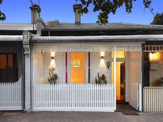 White on white Victorian terrace. 208 Montague Street, South Melbourne