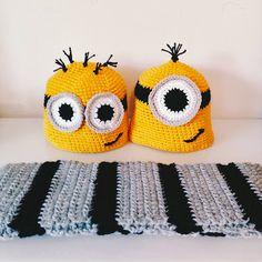 FREE Minions and Gru Scarf pattern! #crochet #halloween #minions #costumes