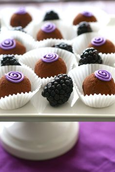 Annie's Eats-blackberry truffles