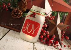 Holiday Decal for Mason Jar Lanterns