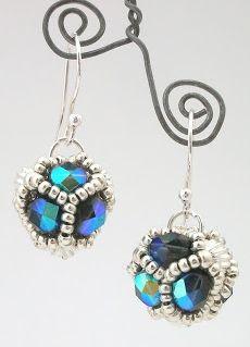 Free Tutorial - RAW Beaded Bead Earrings from Damselfly Gemma featured in Bead-Patterns.com Newsletter!