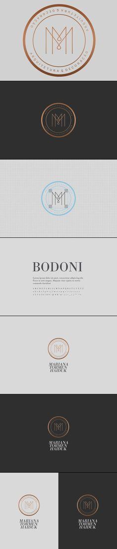 Mariana Tormen Haiduk Architecture Logo Design & Brand Identity by Estúdio Alice via Behance.