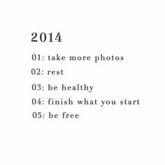 Five Things for 2014