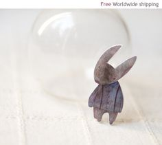 Cute Rabbit brooch  Little bunny  Cute gift for her by BeautySpot, $19.00