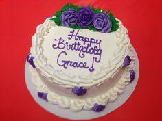 Grace's buttercream birthday cake!