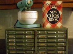 1970's metal file cabinet