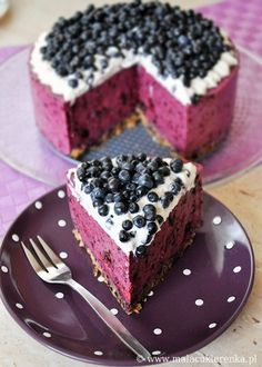 Blueberry cheesecake >> This is so pretty!