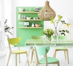 mint / pastel dining room