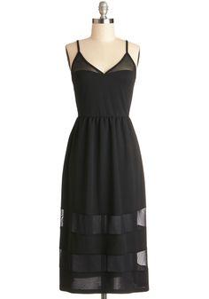 simple, yet interesting black dress