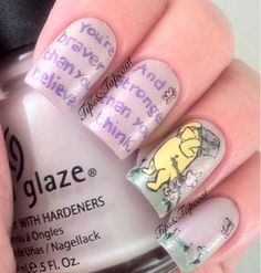 Tips and Topcoat: Classic Winnie The Pooh Nail Art :)