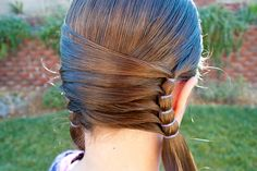 Fun idea for pony tails pig tails