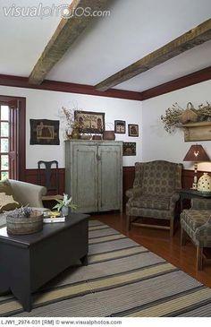exposed beams, countri decor, primit craftsidea, hous idea, primat style, beauti, primat countri, primit idea, room
