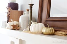 Fall Mantel Decorating Inspiration | The Lettered Cottage