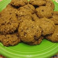 Vegan oatmeal flaxseed chocolate chip cookies Chocolate Chips ...