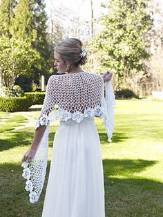 beautiful bridal shawl. Free pattern!