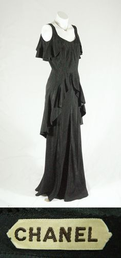 earli 1930s, 1930 chanel, coco chanel, fashion, cloth, chanel dress, couture, evening gowns, chanel coutur