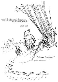 Piglet and Pooh - aka, @debrapaff and me