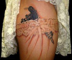 Lace Garter Tattoo.
