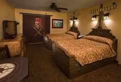 Disney's Caribbean Beach Resort started offering guests pirate-themed rooms.