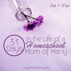 Follow me for 31 days as I share my life as a homeschooling mom of many. I have 7 children, 2 of whom are adopted internationally, ranging in age from 12 to 4 years old. #joyfulmothering #write31days #biblicalmotherhood