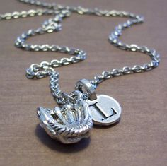 Personalized Softball Glove Charm Necklace  by FiftyEighteen