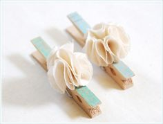Fast and easy clothespins to create sweet picture boards or even use on gifts to hold your card!