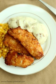The Best Oven-Fried Chicken -- tastes just like KFC, without all the extra grease.  www.thereciperebel.com