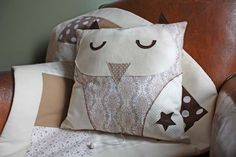 coussin hibou, owl pillows, pillow patterns, coutur, cushion, joli hibou, owl patterns, houhou
