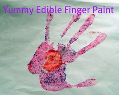 Scavenge your cake-baking cabinet to make this fun #edible #hand-print. It's yummy too:-) #The Kissing Hand
