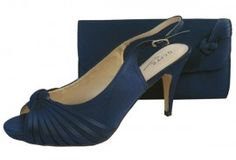 Navy Evening Shoes. Navy wedding shoes and matching bag