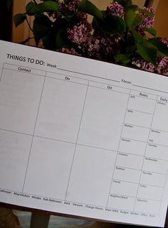 things to do chart