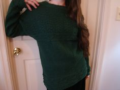 Ravelry: Mystery Sweater pattern by Christiane Burkhard. Knit in the round and top down, so NO sewing in sleeves !