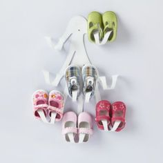 organize baby shoes