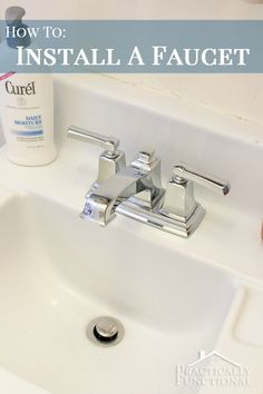 DIY plumbing projects don't have to be scary! Check out this step by step tutorial on how to install a faucet! (Great for renters too!)