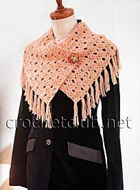 Оригинальный шарф с бахромой - Вязание Крючком. Блог Настика. Схемы, узоры, уроки бесплатно