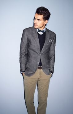 Chino style. Men's fashion