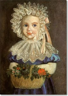 Little Girl with Flowers, 1835,unknown artist