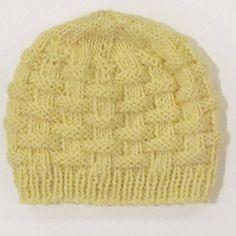 Free pattern, Baby Basket Hat. Knit in Cascade 200.