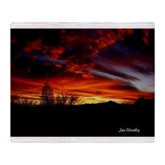Sunset Stadium Blanket - different design on the back makes this a versatile and useful gift for $82.50. From original photograph. Reverse image on link preview.