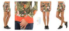 floral denim skirt